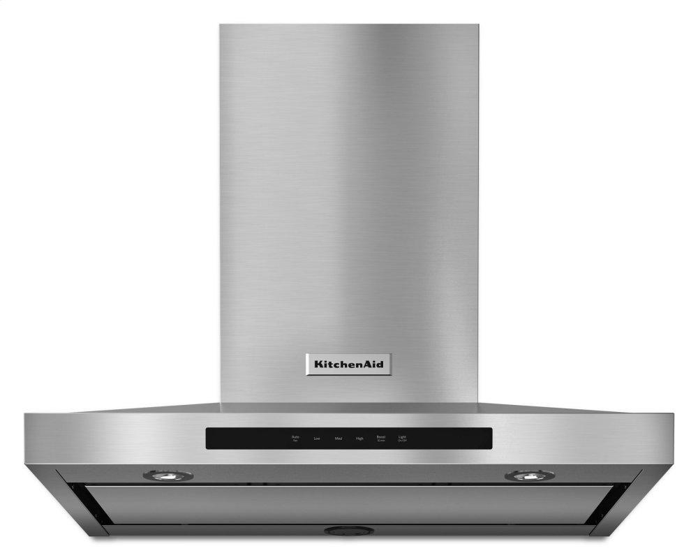 """KitchenAid30"""" Wall-Mount, 3-Speed Canopy Hood - Stainless Steel"""