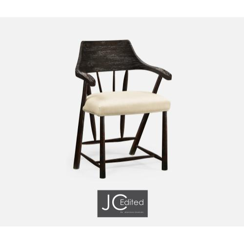 Dining Chair in Dark Ale, Upholstered in MAZO