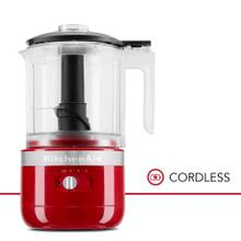 5 Cup Cordless Food Chopper - Empire Red