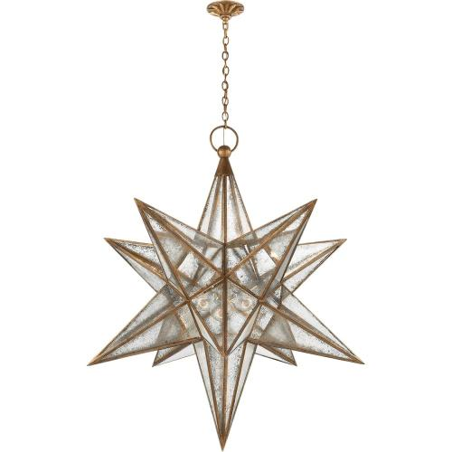 Visual Comfort CHC5213GI-AM E. F. Chapman Moravian Star 3 Light 48 inch Gilded Iron Pendant Ceiling Light
