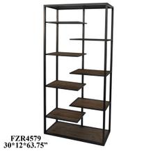 View Product - Hendrick Metal and Wood Offset Etagere