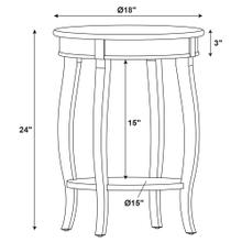 Round Lower Shelf Table, Dark Hazelnut