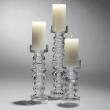Glass Ribbed Candleholder/Vase-Med