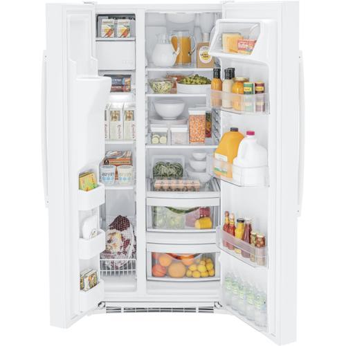 GE Appliances - GE® 23.0 Cu. Ft. Side-By-Side Refrigerator