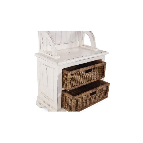 Homestead Narrow Hallstand w/ Rattan Baskets - WHD
