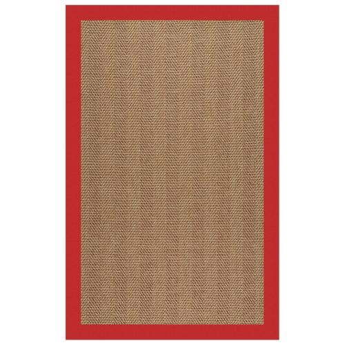 Capel Rugs - Islamorada-Herringbone Canvas Jockey Red