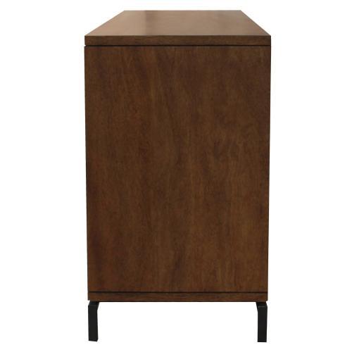 Bellevue Dresser 6 Drawers Graphite Metal Legs, Graphite/Natural Mango