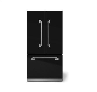 "AGA Elise 36"" French Door Refrigerator, Gloss Black"