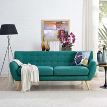 Remark Upholstered Fabric Sofa in Teal