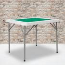 """34.5"""" Square 4-Player Folding Card Game Table with Green Playing Surface and Cup Holders Product Image"""