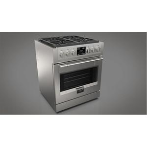 "Fulgor Milano30"" Dual Fuel Pro Range - Stainless Steel"