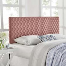 Angela King Performance Velvet Headboard in Dusty Rose