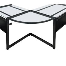 See Details - Caesar Corner Unit In Black With Clear Glass