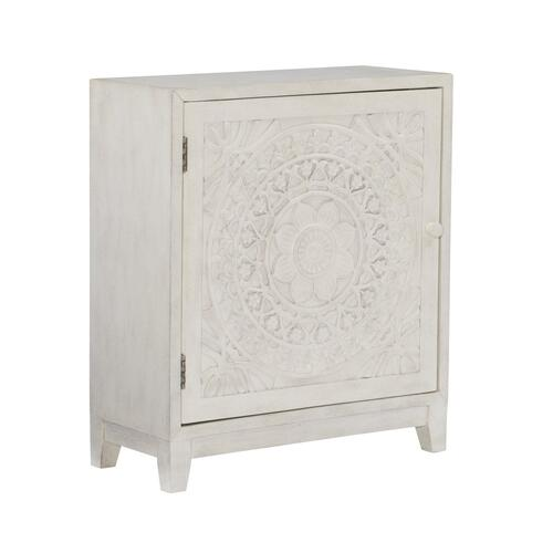 1-door With Fixed Shelf Inside Cabinet, White