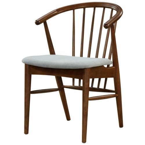 Product Image - Harry KD Dining Side Chair Dark Walnut Frame, Studio Gray