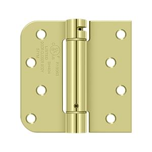 "4""x 4""x 5/8""x SQ Spring Hinge, UL Listed - Zinc Dichromate Product Image"