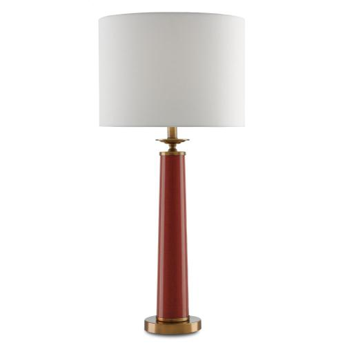Currey & Company - Rhyme Red Table Lamp