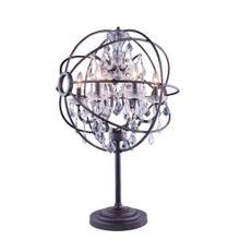 Geneva 6 light Dark Bronze Table Lamp Clear Royal Cut crystal