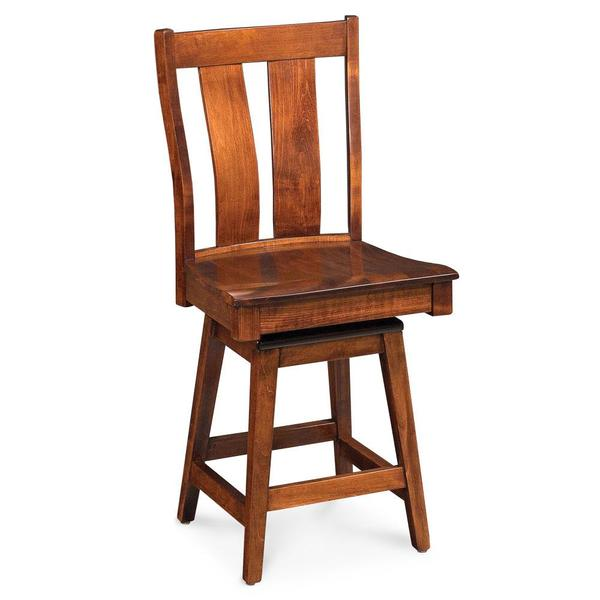 """See Details - Mitchell Swivel Barstool, Fabric Cushion Seat / 30"""" Seat Height"""