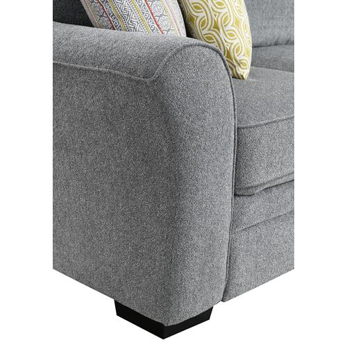 Elle Rsf Storage Chaise, Gray U4378-12-03