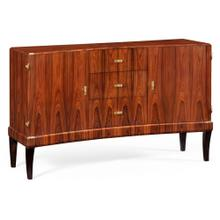 Art deco curved sideboard with brass (High lustre)