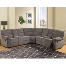 Conan 3-Piece Manual Reclining Sectional, Graphite Grey