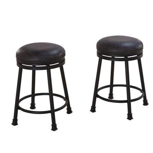 "Claire PU Swivel Counter Stool [1/2"" Memory Foam]"