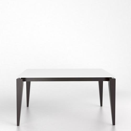 Gallery - Rectangular glass table with legs