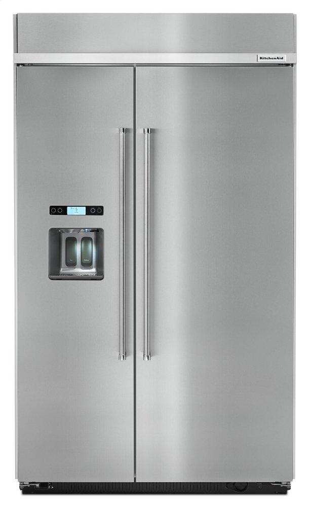 Kitchenaid29.5 Cu. Ft 48-Inch Width Built-In Side By Side Refrigerator - Stainless Steel