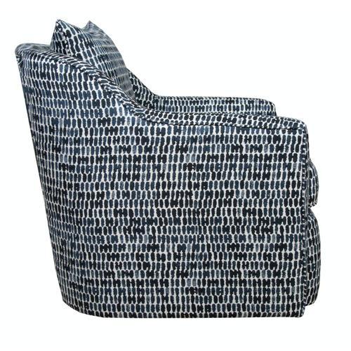 Capris Furniture - Swivel Chair, Fully Upholstered.