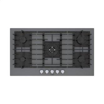 Benchmark™ Gas Cooktop 36'' Tempered glass, dark silver NGMP677UC