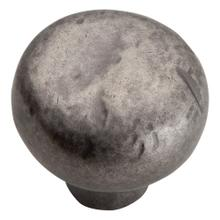 Distressed Round Knob 1 3/8 Inch - Pewter