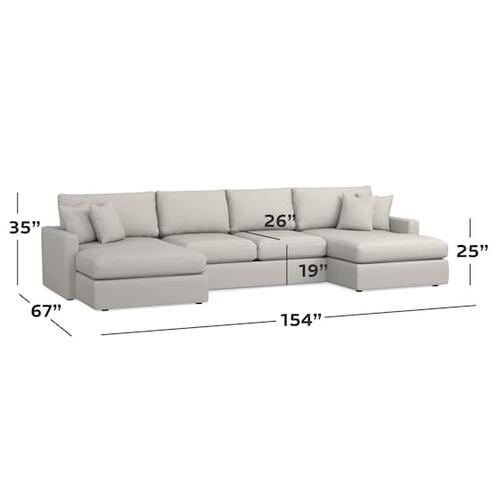 Bassett Furniture - Allure Double Chaise Sectional