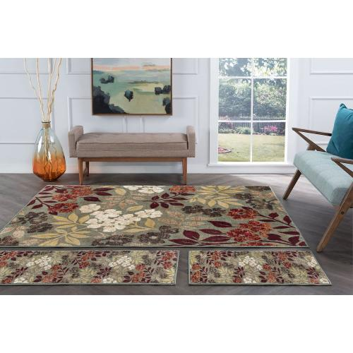 Tayse Rugs - Deco - DCO1313 Seafoam Rug (Multiple Sizes Available)