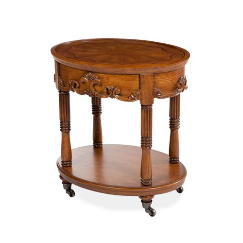 Grand Traditions Oval Serving Table Heritage Oak