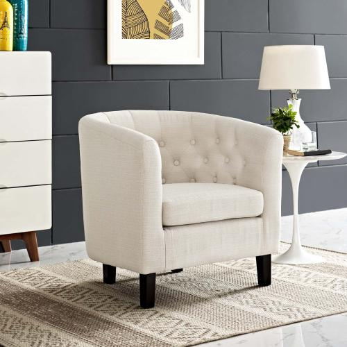 Modway - Prospect Upholstered Fabric Armchair in Beige