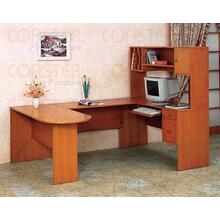 DESK/COMPUTER EXECTIVE:B OOKCSE+KEYBRD WOOD OAK/F
