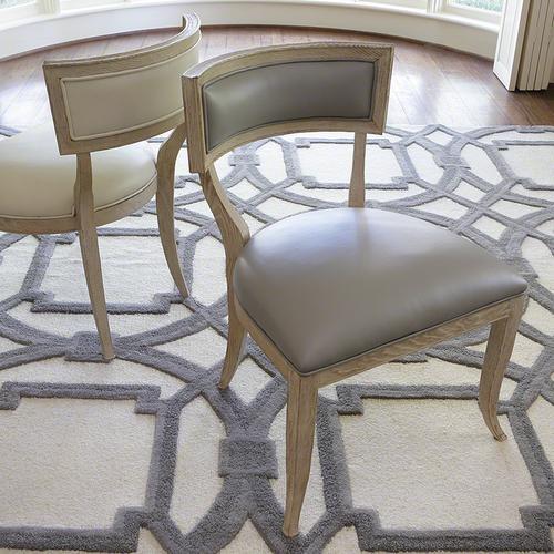 Klismos Chair-Grey Leather