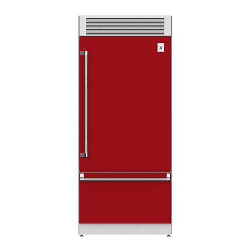 "Hestan - 36"" Pro Style Bottom Mount, Top Compressor Refrigerator - KRP Series - Matador"