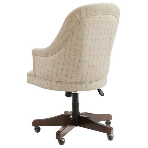 Rosemoor - Upholstered Desk Chair - Burnt Caramel Finish