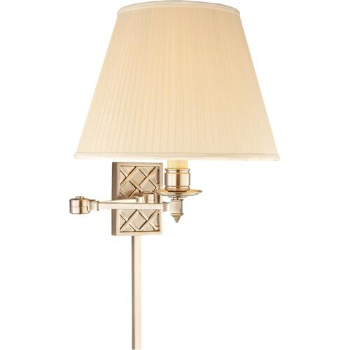 Visual Comfort AH2012BN-S Alexa Hampton Gene 20 inch 100 watt Brushed Nickel Swing-Arm Wall Light
