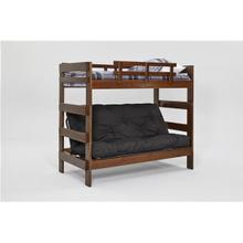 See Details - Heartland Futon Bunk Bed with Metal Deck with options: Chocolate, Not Included