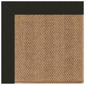 "Islamorada-Herringbone Canvas Black - Rectangle - 24"" x 36"""