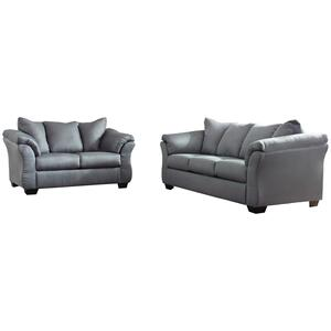 Darcy Steel Sofa and Loveseat (75009)