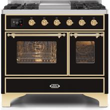 40 Inch Glossy Black Dual Fuel Natural Gas Freestanding Range