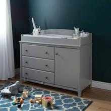 Changing Table with Station - Soft Gray