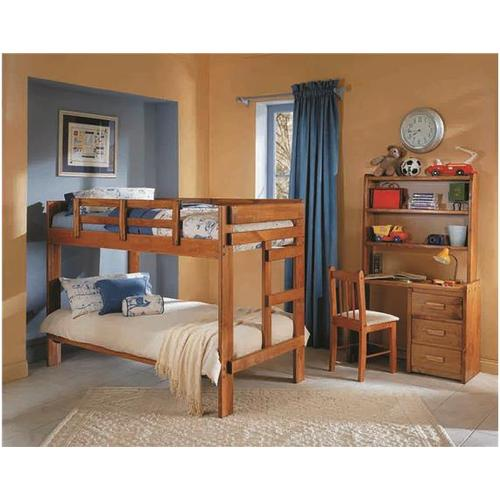 Woodcrest - Heartland 2 x 6 One Piece Bunk Bed with options: Honey Pine, Twin over Twin