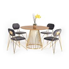 Modrest Holly Modern Ash & Gold Round Dining Table