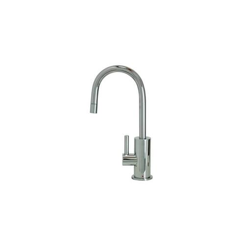 Hot Water Faucet with Contemporary Round Body & Handle - Polished Chrome