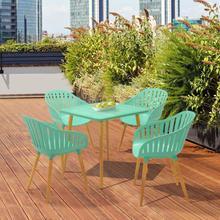 View Product - Nassau Outdoor 5 Piece Mint Eucalyptus Dining Set